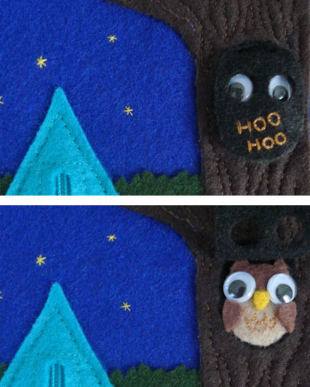 Activity Book: Camping Fun, detail - owl