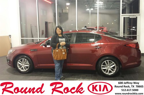Thank you to Christina Rodriguez on your new 2013 #Kia #Optima from Roberto Nieto and everyone at Round Rock Kia! #NewCarSmell by RoundRockKia