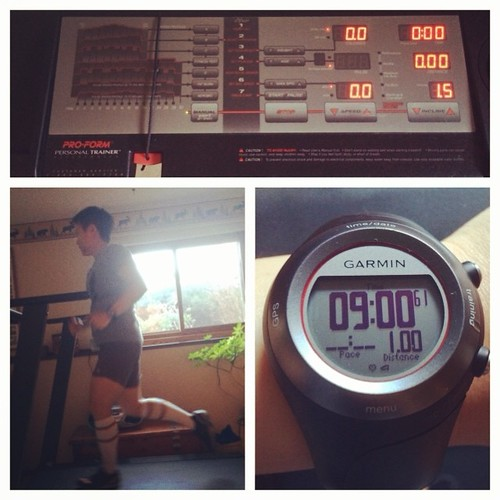 #rwrunstreak day 4! Took the treadmill out for a test run to give the legs a break and to get on the road.