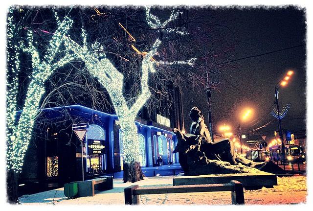 Садовое Кольцо. Памятник Шаляпину. Новинский Пассаж