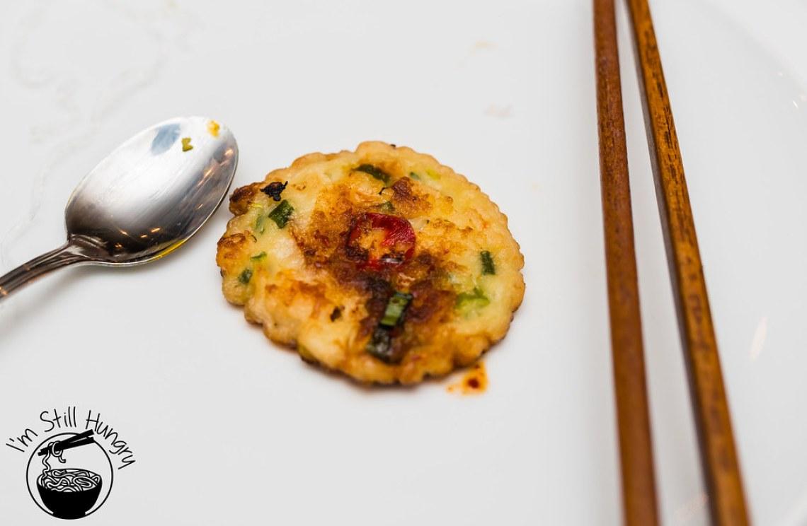 Haemol pajeon - seafood pancake korean banquet showcase