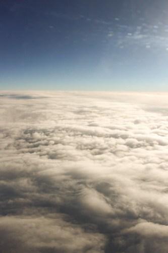 千歳へ向かう空