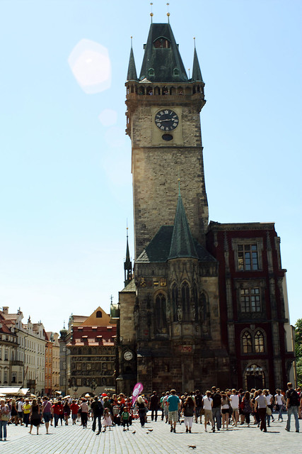 Astronomical clock tower, Prague.