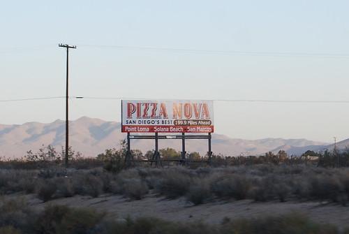 Pizza Nova sign