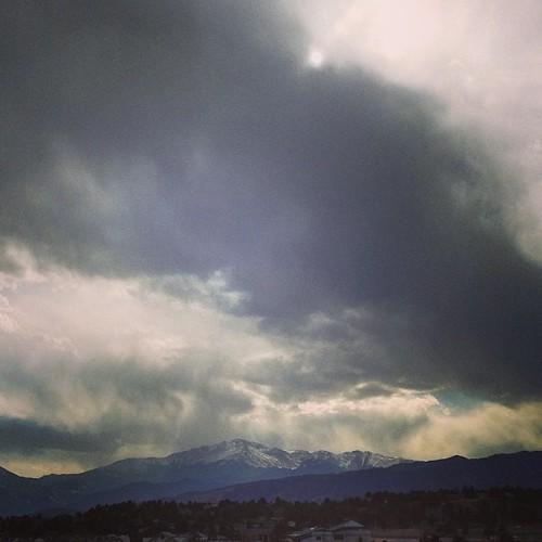 Pikes Peak today #coloradosprings #colorado by @MySoDotCom