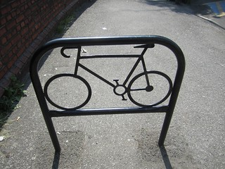 Arty bike rack at Redhill