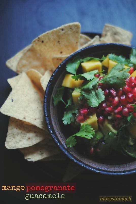 mango pomegranate guacamole