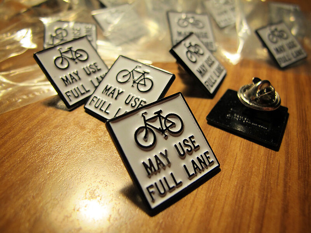 Bikes May Use Full Lane Lapel Pins