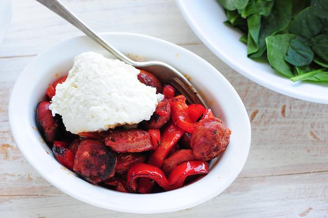 hot chorizo & creamy ricotta salad-2