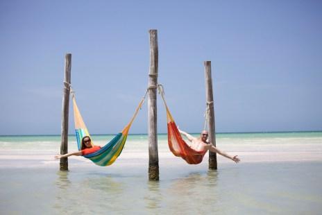 Both in hammock, Isla Holbox