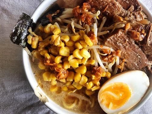 Homecooked tonkotsu ramen