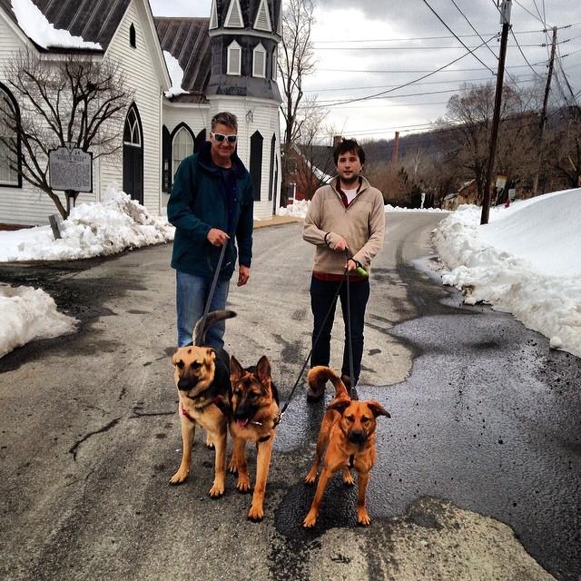 Walk with these 3 crazies. Sweet shades, @jfarkle.