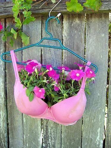 flowers in bra