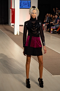 See through black blouse and mini skirt  - Intermoda Trends