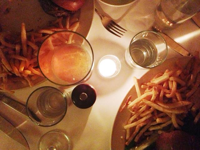 black label burgers and fries at minetta tavern