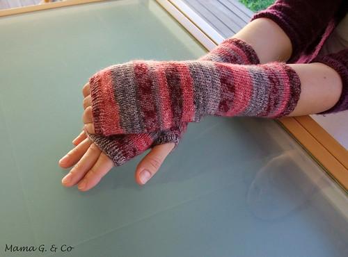 Pink Stripes Handwarmers (3)