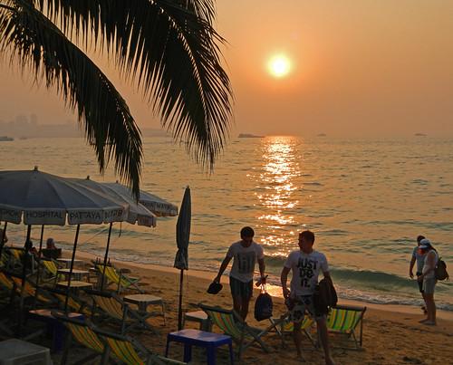 Sunset at Pattaya (Thailand)