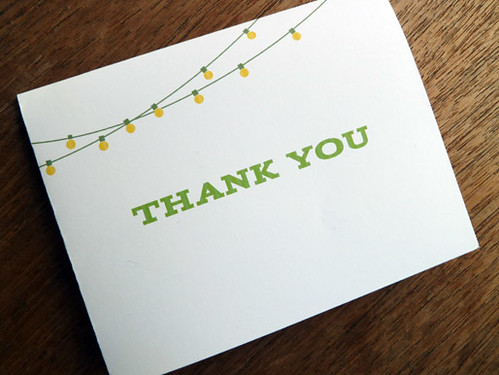 Party Lights Thank You Card