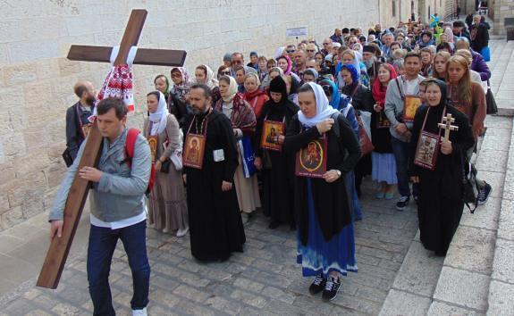 Шествие в Иерусалиме с молитвой за Украину