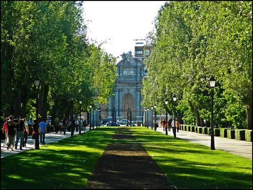Parque de El Retiro, vistas a la Puerta de Alcalá, Madrid
