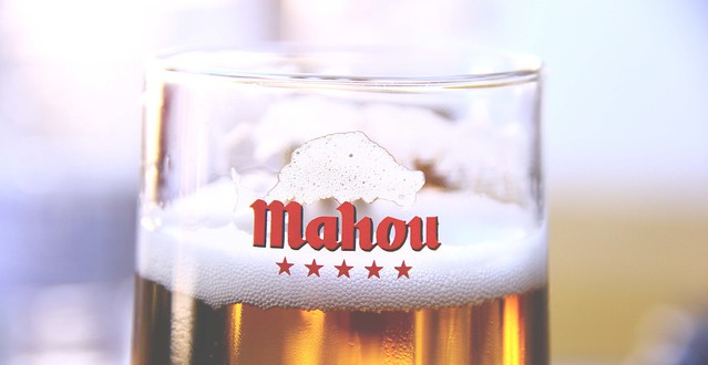 mahou beer detail