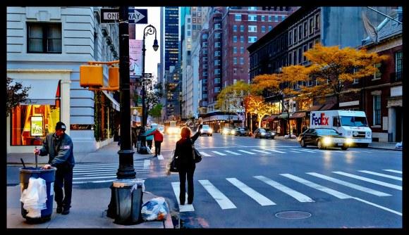 Taxi Hailer on Madison Avenue - New York - 2013