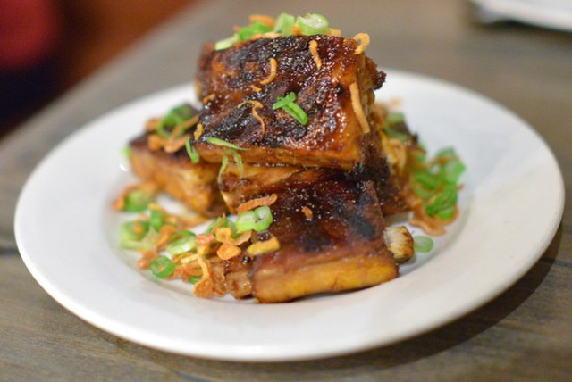 Spareribs Vietnamese caramel sauce, fried shallots