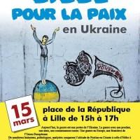 """Rassemblement """"Lille pour la Paix en Ukraine"""""""