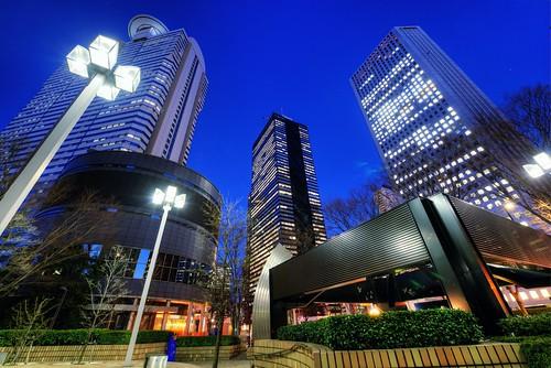 Three Buildings by hidesax