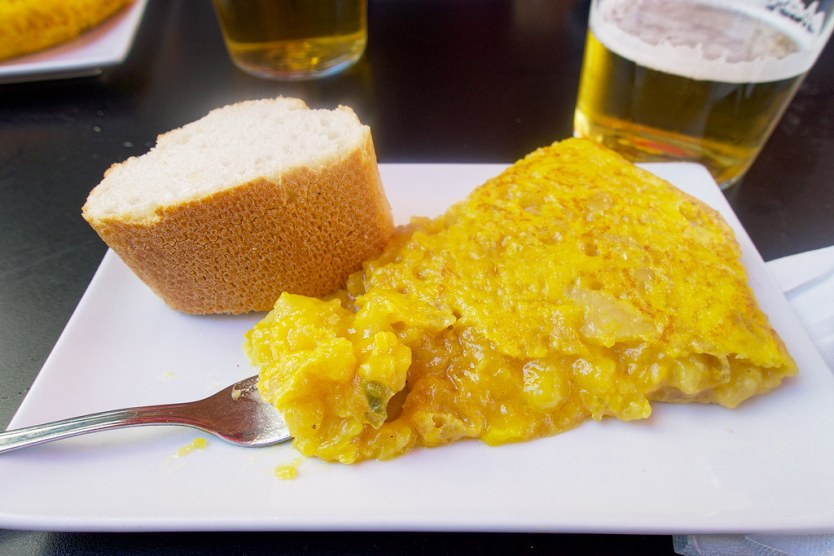 Tortilla de Patatas and a beer.