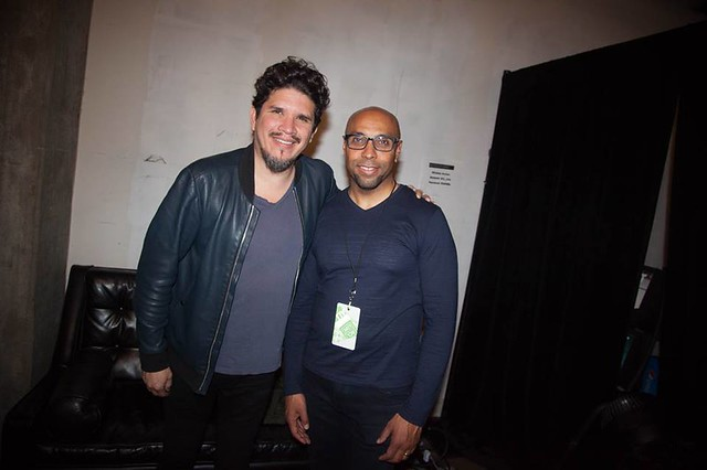 Rob Garza of Thievery Corporation and Erik Moses SVP of Events DC