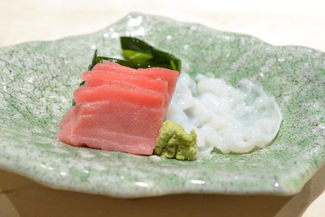toro and octopus sashimi