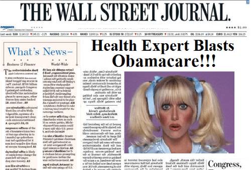 Wall Street Journal Health Care Expert: Suzanne Somers