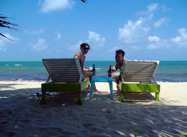 Placencia Belize Ranguana Lodge lounge chairs