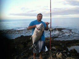 Jimmys first ulua 28.2 lbs