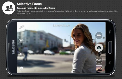 Samsung Galaxy S5 Selective Focus