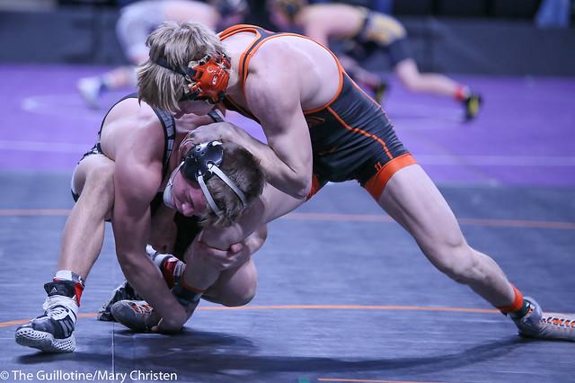 132AA - Semifinal - Tucker Sjomeling (Delano) 42-1 won by decision over Tyler Shackle (Scott West) 33-14 (Dec 7-2)