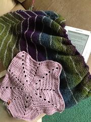Shawl & crochet in progress