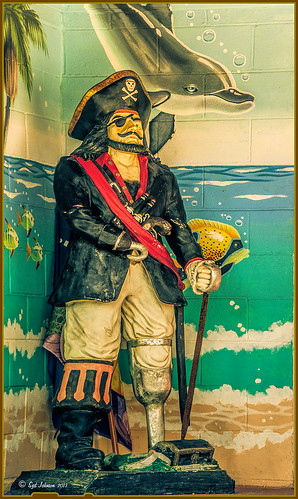 An image of a pirate statue at Flagler Beach