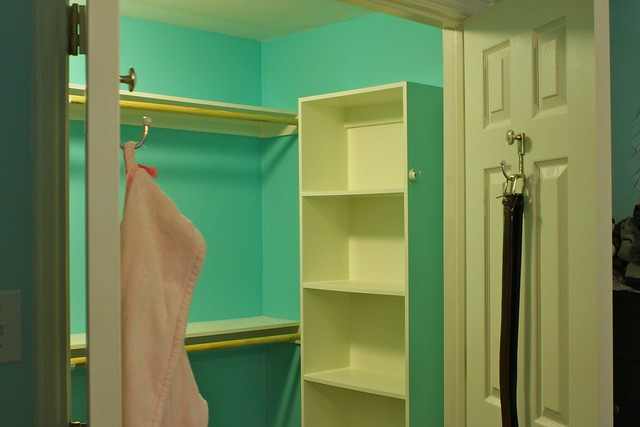 Empty Closet.  The color really did look this saturated when we had the room empty.