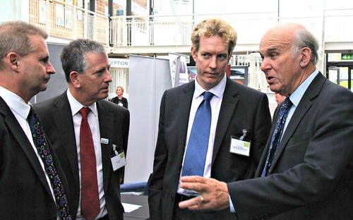 L-R, Keith House, Mike Thornton MP, Alex Parmley, Dr Vince Cable