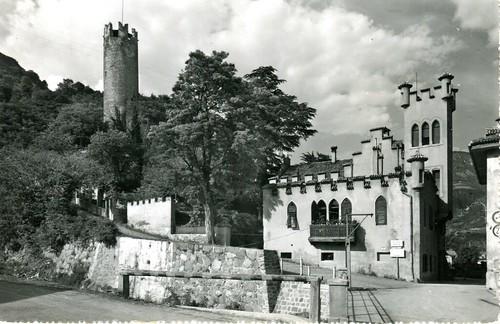 postcard - bolzano - via miramonti - torre druso - 1962