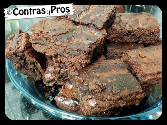 Receta fácil de brownie de chocolate casero