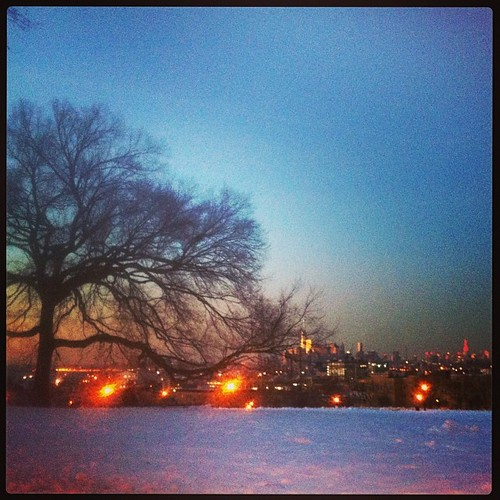 Sunset Park at winter twilight is a surreal and magical place