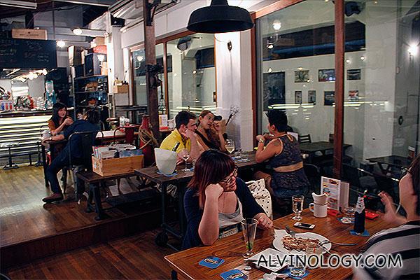 Indoor area of the restaurant bar