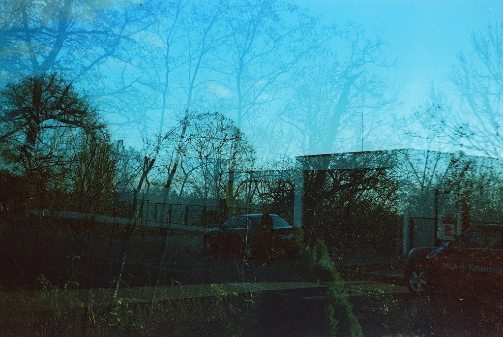Smena 8M - Villa Tugendhat and Trees (double exposure)