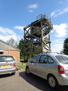wooden radar tower