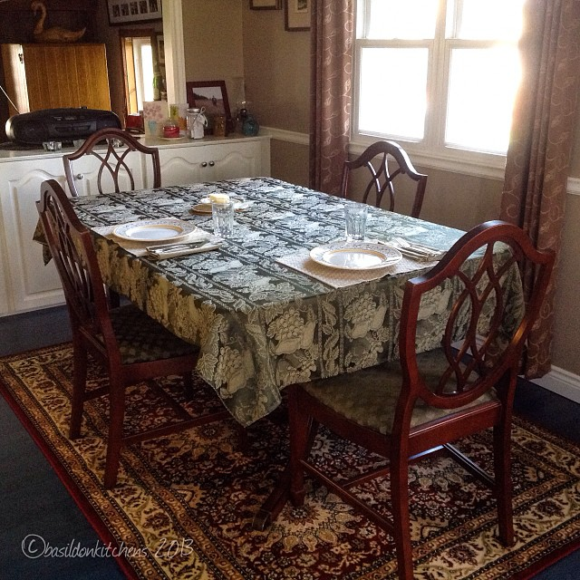 Nov 4 - table {my dining room table set for a quiet dinner with hubby} #fmsphotoaday #table