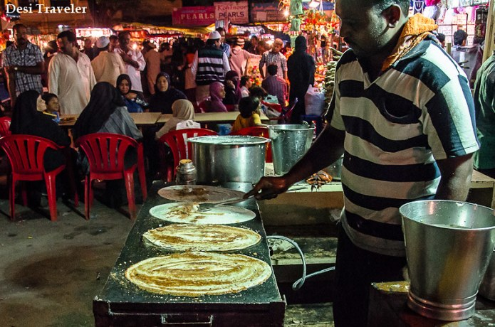 Dosa making at Ramazan Night market Charminar