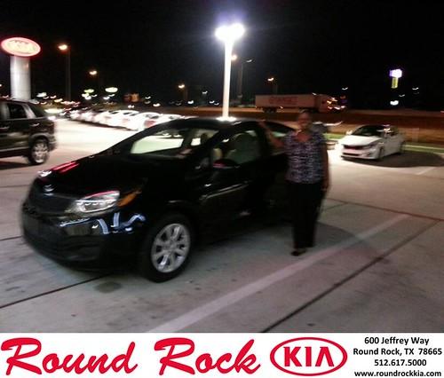 Thank you to Tanisha Crenshaw on your new 2013 Kia Rio from Rudy Armendariz and everyone at Round Rock Kia! by RoundRockKia